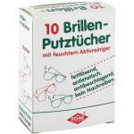 10 / stk Brillenputztücher mit feuchtem Aktivreiniger