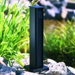 2-fach-Steckdosensäule, schwarz