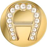 Aigner Brosche mit Perlen gold