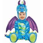 Amscan 999667 Kinderkostüm Kleiner Drache, Mehrfarbig, 12-18 Monate