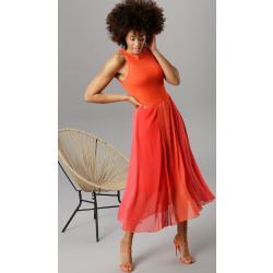 Aniston SELECTED Sommerkleid, in Knallfarben orange