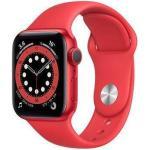 Apple Wie neu: Apple Watch Series 6 Aluminium 40mm Aluminium GPS rot Sportarmband Rot