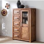 Ars Natura Highboard Ohio Massivholz Sheesham 97x145x45 cm (BxHxT)