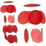 ART-CRAFT Capiz Windspiel Muschel Kette Girlande rot als hänge Deko für Fenster oder deko Wohnzimmer Aber auch als Garten Dekoration Länge 50cm