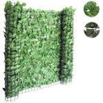 Balkonsichtschutz T811, Buchenhecke Sichtschutz Windschutz Verkleidung für Terrasse Zaun ' 300x100cm hell