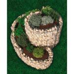 Bellissa Gabionen-Kräuterspirale klein 60 cm x 110 cm x 90 cm