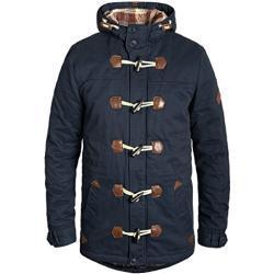 Blend Kenthon Herren Winter Jacke Parka Dufflecoat Mantel Lange Winterjacke gefüttert mit Hochabschließendem Kragen aus 100% Baumwolle, Größe:M, Farbe:Navy (70230)