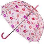 Blooming Brollies Holovaty Damen transparente freie Dome Regenschirm mit einem Stock-Lippenentwurf POESLIP