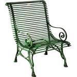 Casa Padrino Gartenstuhl aus Schmiedeeisen - verschiedene Farben - 63 cm x 45 cm x H98 cm - Luxus Gartenmöbel, Farbe:vintage grün