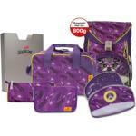 DerDieDas Rucksack Set Ergoflex Switch Exklusiv 7-tlg. - purple