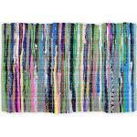 DII Chindi Collection Flickenteppich, handgefertigt, Farben können variieren, 49,5 x 80 cm, Mehrfarbig, 1 Stück