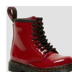 Rote Retro Dr. Martens 1460 Schuhe Reißverschluss