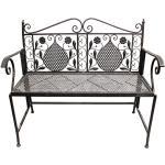Eisen Gartenbank 2-Sitzer Antik Design Braun