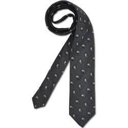 Elegante Krawatte mit feiner Struktur, Schwarz
