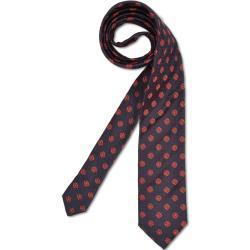 Elegante Krawatte mit floraler Struktur, Navy-Rot