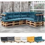 [en.casa] 1x Sitzkissen für Euro-Paletten-Sofa [türkis] Palettenkissen Auflage In/Outdoor Polster Möbel