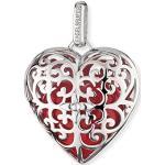 Engelsrufer Herz Anhänger für Damen 925er-Sterlingsilber mit rotem Klangherz 29 mm