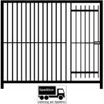 Euro-Rohrstabelement mit Tür für Hundezwinger Freigehege, Breite,200cm,Höhe,184cm,Rohrabstand 8cm