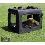 Faltbare Hundebox Transporttasche Transportbox Auto Katze Hunde Kaninchen Schwarz Große Kleine Box Bag Klein Auto Tasche Transport 7 Größen S - XXXXL Petigi, Größe:M (60 x 40 x 45 cm)