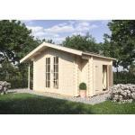 Gartenhaus SKAN HOLZ Multi45 mit Fußboden 432x340 cm natur