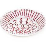Gmundner Keramik Rotgeflammt Reifschüssel ohne Henkel d: 32 cm / h: 7,4 cm