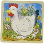 Goki 57521 Schichtenpuzzle Das Huhn