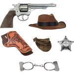 Gonher 880/0 Cowboy Set zum Kostüm - 6-tlg. - Fasching Kinder Mottoparty Karneval Spielen