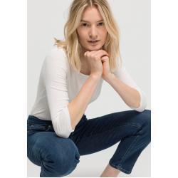 hessnatur Shirt aus Bio-Baumwolle, Größe 44, weiß