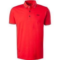 HUGO Herren Polo-Shirt, Slim Fit, Baumwoll-Piqué, rot