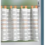 INTERDECO Scheibengardine in Weiß/Orange, BxH 140 x 50 cm Oxana (75)