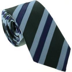 Jacques Britt Krawatte blau/violett, Gestreift