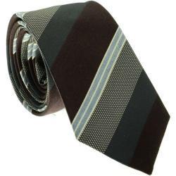 Jacques Britt Krawatte braun/grau, gepunktet und gestreift