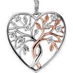 JJPE0466.8 Herz-Anhänger Lebensbaum Bicolor