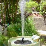 JunziWing Solar schwimmender Wasserbrunnen für Gartenpoolteichdekoration