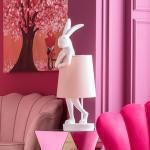 KARE Animal Rabbit Tischleuchte weiß/rosa