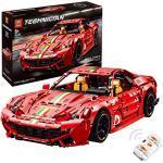 KEAYO Technik Sportwagen Modell für Ferrari F12 Berlinetta, Technik Ferngesteuertes Auto mit Fernbedienung und Motors, Groß Klemmbausteine Bausatz Kompatibel mit Lego Technic