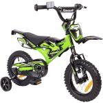 Kinderfahrrad 12 Zoll Kawasaki Kasaii Cross BMX Moto grün mit Rücktrittbremse