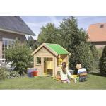 Kinderspielhaus Woodfeeling Benedikt 135x123 cm Holz natur