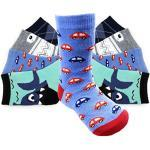 Laake 12 Paar Jungen Socken Kinder Strümpfe bunter Mix aus Baumwolle für Kids Gr. 23-26