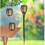 LED-Solarleuchte Fackel mit Erdspieß, 2er-Set 3in1