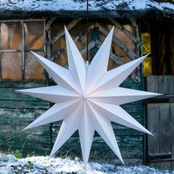 LED-Stern Jumbo, außen, 11-Zacker, Ø 100 cm weiß