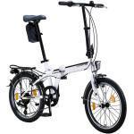 Licorne Bike Conseres Premium Falt Bike in 20 Zoll - Fahrrad für Herren, Jungen, Mädchen und Damen - Shimano 6 Gang-Schaltung - Hollandfahrrad , Farbe:Weiß/Schwarz, Zoll:20