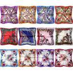 LilMents 12 verschiedene Designs, klein, quadratisch, Satin, für Damen, Halstuch, Kopftuch, Schals Gr. One size, Set Zj
