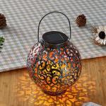 Lindby Adriano LED-Solarlaterne, Ornamente, silber