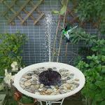 LvSenLin Vogelbad Brunnen 7v / 1,4 Watt Solar Fontein Fontiner Solarbetrieben Fuente Floating Wasserpumpe 3 Sprinkler Köpfe Solaire Fontaine