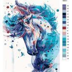 """Malen nach Zahlen """"Mustang Pferd"""", 40x50cm, KTMK-486631"""