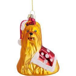 My-goodbuy24 Weihnachtskugeln Figuren aus Echtglas Glaskugeln Weihnachten Weihnachtsdeko Tannenbaumkugeln Glas Christbaumkugeln Deko (Hund 10cm)