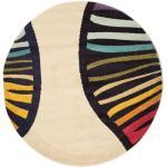 Ø 150 Vases Teppich Moderner Rund Beige/Dunkellila