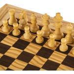 Olive Burl - Schachspiel 34x34 cm - Staunton König 6.5cm Spitzenqualität