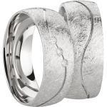 Paar 925 Silberringe - Freundschaftsringe Partnerringe Verlobungsringe Ehering mit Diamant und er Gravur Antragsringe Hochzeitsringe Trauringe